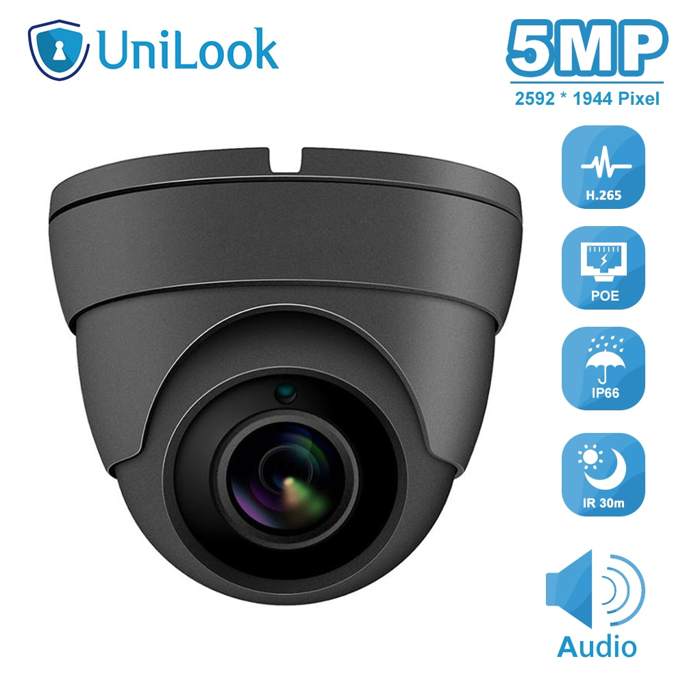 5MP Mini Dome POE IP Camera Outdoor Security Audio CCTV Video Surveillance IR 30m Hikvision Compatible H.265 ONVIF P2P View 1080p 5mp ptz ip camera indoor onvif 10x zoom mini high speed dome ceiling camera 2mp h 265 ir 30m p2p cctv surveillance camera