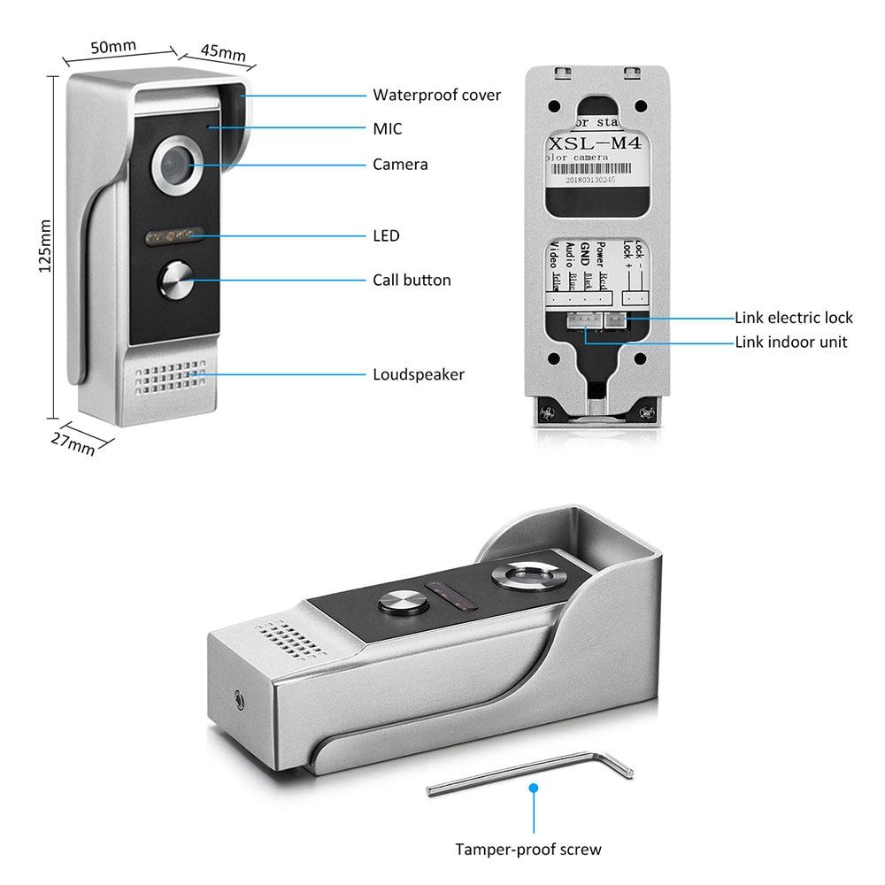 7 inch Wireless WiFi Video Door Phone APP Smart Unlock Control Mobile Phone Remote Control Video Intercom Record System enlarge