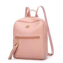 Femmes prune couleur bonbon petit sac à dos 2019 étudiant quotidien collège Style nouveau porte-monnaie mini sacs à dos pour femmes sac à dos