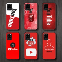 Youtube logo  Phone Case Cover Hull For Samsung Galaxy S 6 7 8 9 10 e 20 edge uitra Note 8 9 10 plus
