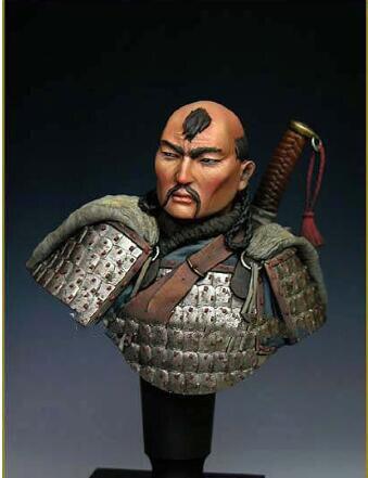 Kit sin pintar 1/10 Guerrero MONGOL 14 siglo busto figura de juguete histórico Kit de resina