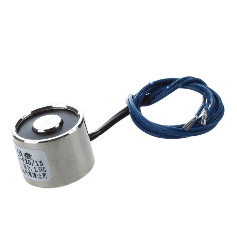 WSFS caliente 20x15mm DC Electro la fuerza de imán 2,5Kg 12V w Cable 18,5 cm