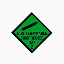 Interesting NON FLAMMABLE COMPRESSED GAS Car Sticker Decal Windshield Decals Motorcycle Accessories