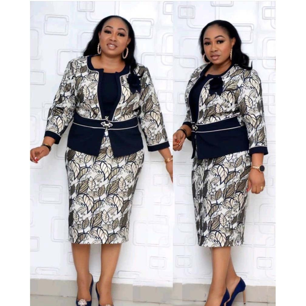 Autumn And Winter Fashion Digital Printing Two-piece Dress African Womens Jacket + With High Quality 2020