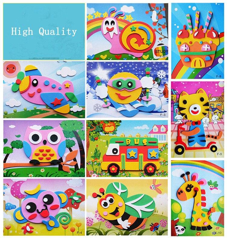 AliExpress - 3PCS and 5PCS/lot 3D EVA Foam Sticker Puzzle Series Kids DIY Cartoon Multi-mode Style Children's Toys Best Birthday Gifts New