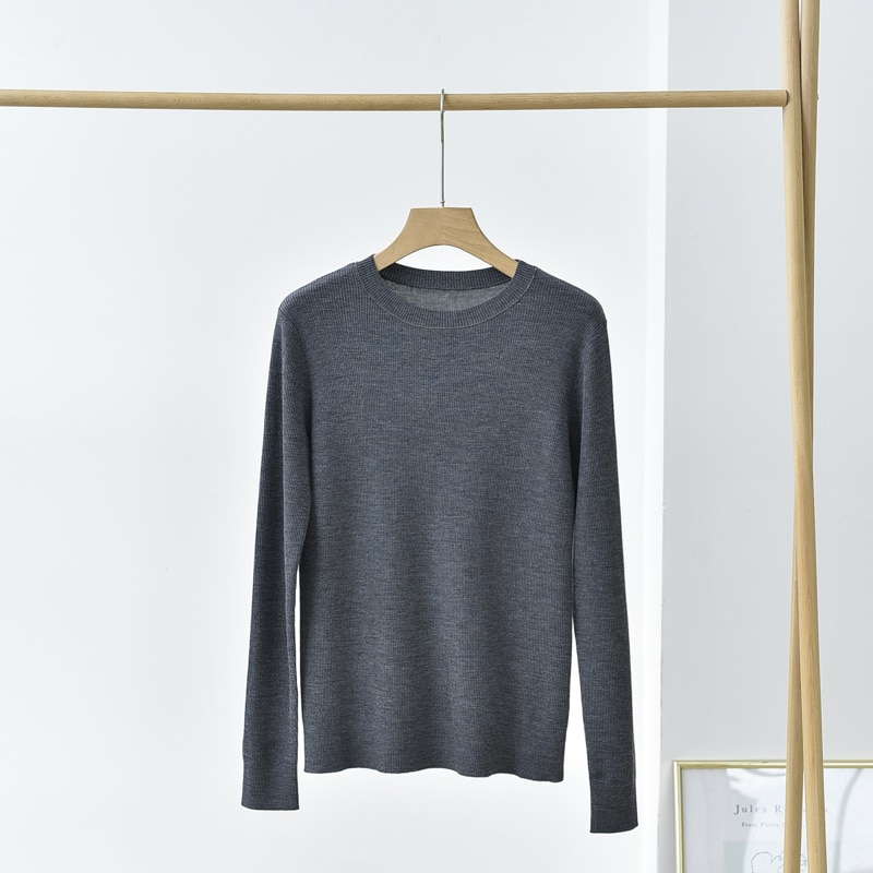 SHUCHAN Slim Wool Women Sweater High Quality Pullover  Appliques  Office Lady  O-Neck  Spring/Autumn  Fall Clothes for Women enlarge