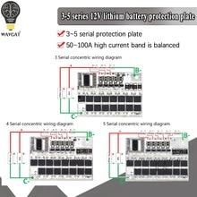 3S 4S 5S Bms 12v 16.8V 21V 3.7V 100A Li-ion Lmo Ternary Lithium Battery Protection Circuit Board Li-