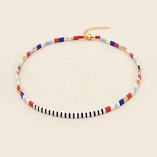 Go2boho naszyjniki dla kobiet Miyuki Tila naszyjnik biżuteria Boho Collier regulowany sznur kołnierz Vsco dziewczyna Acessorios Joyeria