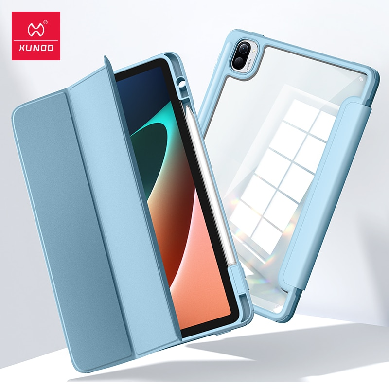 Чехол для Xiaomi Mi Pad 5 Pad 5 Pro, чехол для планшета Xundd с откидывающейся подушкой безопасности, противоударный чехол-пенал для Mi Pad 5 Pro, чехол-подста... чехол