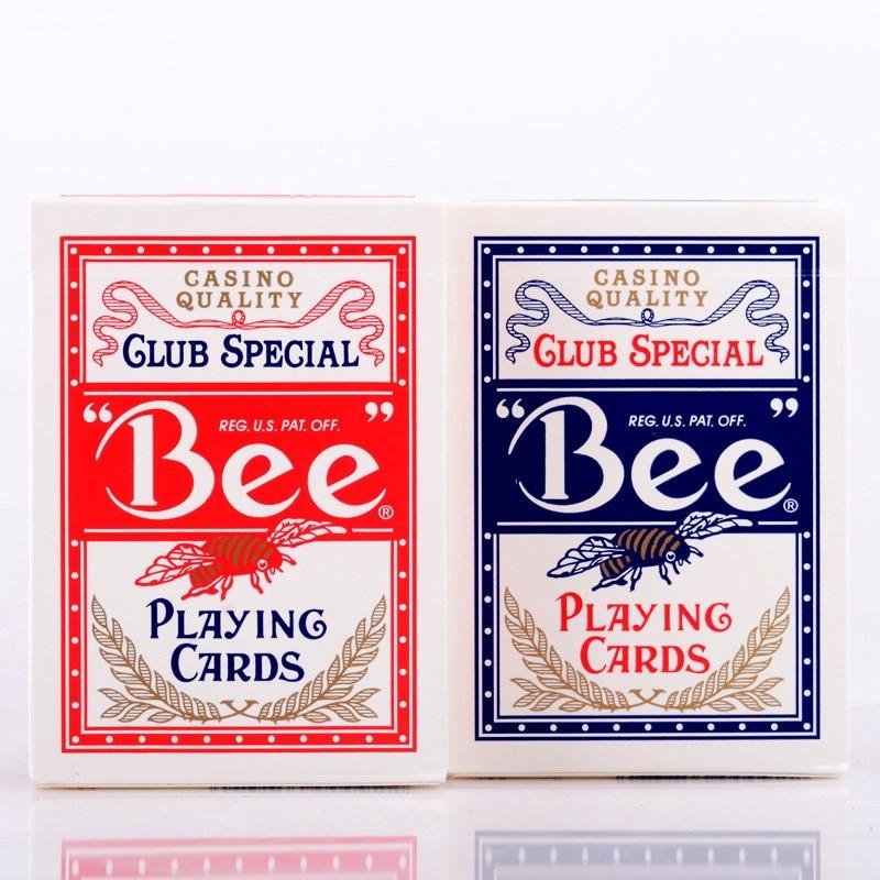 1 шт. США родная пчела колода красные или синие Волшебные Игральные Карты Покер Волшебная колода реквизит магия фокусы для профессиональног...
