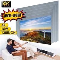 Ecran de projection optique Portable 16 9 HD  50 63 72 84 100 112 120 130 pouces  Anti-lumiere  imagerie Positive  pour Home cinema et exterieur