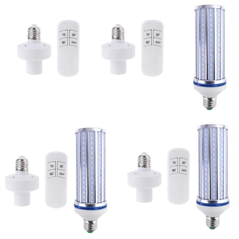 60W UV Germicidal Lamp LED UVC Bulb E26 Disinfection Light Timing Remote Control U1JE