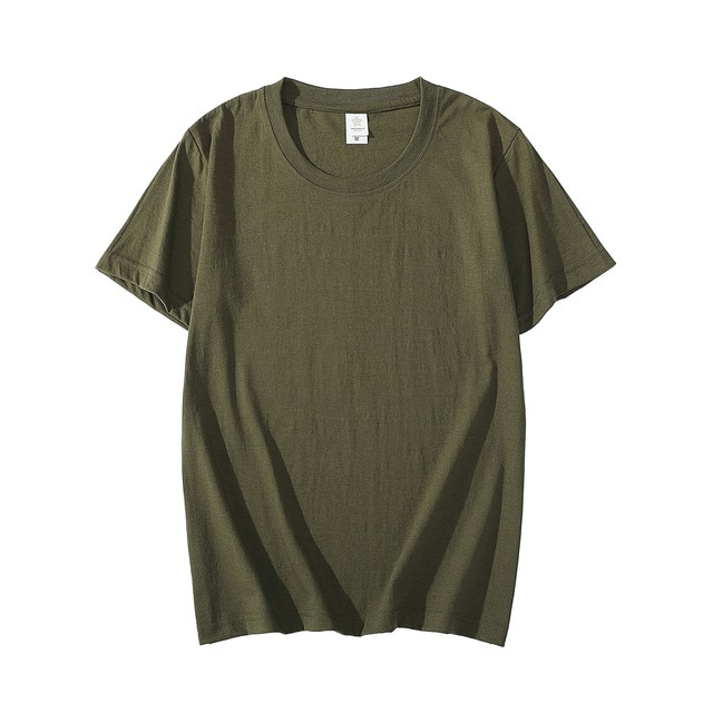 Camiseta de algodón de manga corta para hombre de camiseta de color...