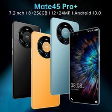 Hot Sale Mate45 Pro 2021 Global Version 7.2 Inch Smartphone Full Screen Octa Core 5000MAh 12GB 512GB