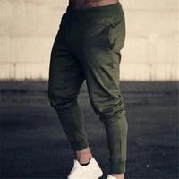 men autumn summer sports running pants pockets training elastic waist jogging casual trousers sweatpants solid