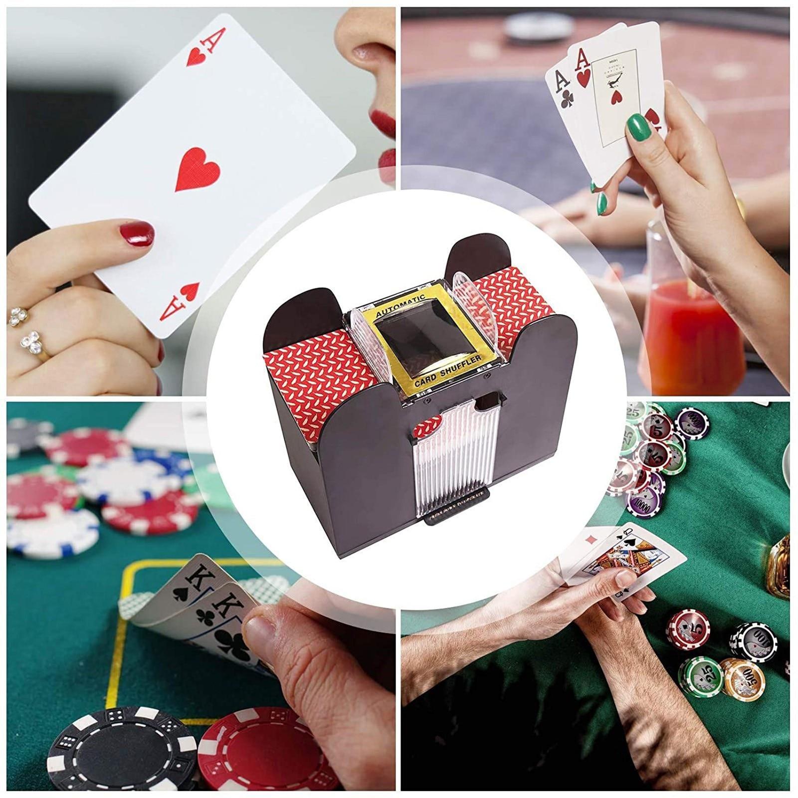 خلط آلة مجلس لعبة البوكر أوراق اللعب الكهربائية التلقائي لعبة ببطاقات ورقية حفلة الترفيه وبطاقة Shuffler أساسيات