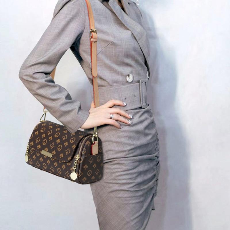 2021 Famous Brand Designer Shoulder Bag For Women Vintage Printing Crossbody Bags High Quality Leather Female Tote Messenger Bag