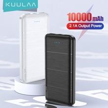 KUULAA 2Pcs Power Bank 10000mAh Portable Charging PowerBank 10000 mAh USB PoverBank External Battery