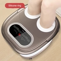 electronic constant temperature foot massage basin automatic heating finger press massage foot bath tub