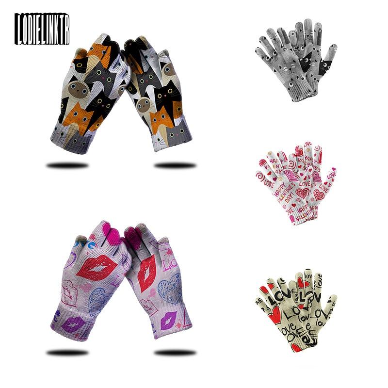 Вязаные мини перчатки с животными, женские нескользящие перчатки для активного отдыха, езды на велосипеде, высококачественные рабочие садо...