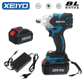 XEIYO 20V Electric Impact Wrench/Drill 2 In 1 Brushless Wrench Socket 1500mAh Li-ion Battery Hand Drill Installation Power Tools