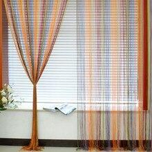 1m X 2m okno Fringe panel ścienny parawan Strip linia kurtyna sznurkowa bestsellery