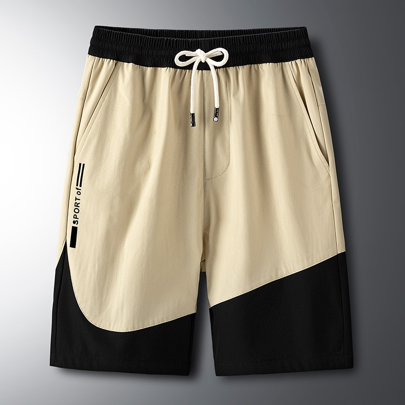 Мужские Пляжные быстросохнущие пляжные шорты, Новинка лета 2021, Повседневные Классические мужские шорты с большими карманами, брюки