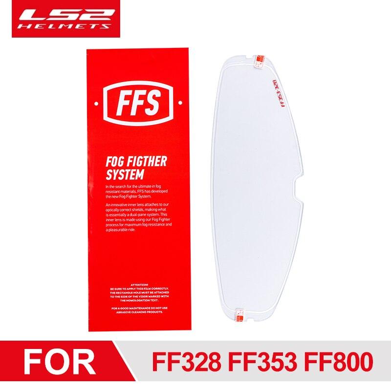 LS2 خوذة قناع مكافحة الضباب فيلم ل LS2 FF320 FF328 FF353 FF800 كامل الوجه دراجة نارية خوذة عدسة التصحيح مع ثقوب دبوس