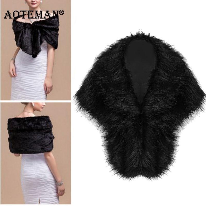 Fur Faux Vest Winter Women Waistcoats 2020 Bridal Shawl Wedding Cape Bridal Cloaks Wedding Coat Jacket For Evening Party LL084