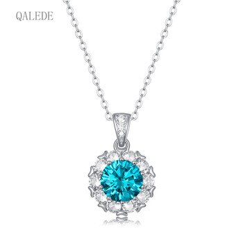 QALEDE Women's Necklace S925 Silver Necklace Female New Style Mermaid Tears Temperament Mozanstone Necklace Gift