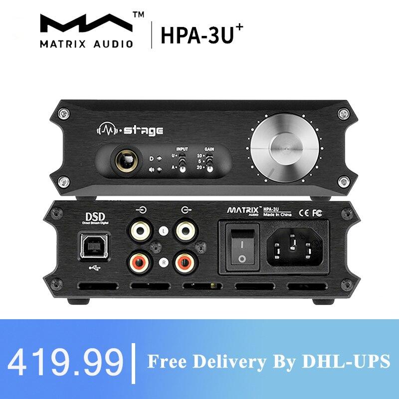 مصفوفة م المرحلة HPA-3U فئة مضخم ضوت سماعات الأذن HPA-3U USB DAC فك