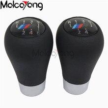 6 5 velocidad de cuero genuino de cambio de engranaje de mando con logotipo M para BMW 1 3 5 6 serie E30 E32 E34 E36 E38 E39 E46 E53 E60 E63 E83 E84