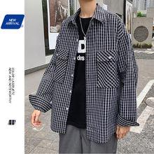Automne chemise à carreaux hommes mode robe chemise hommes rétro chemises décontractées hommes Streetwear sauvage à manches longues chemise M-5XL