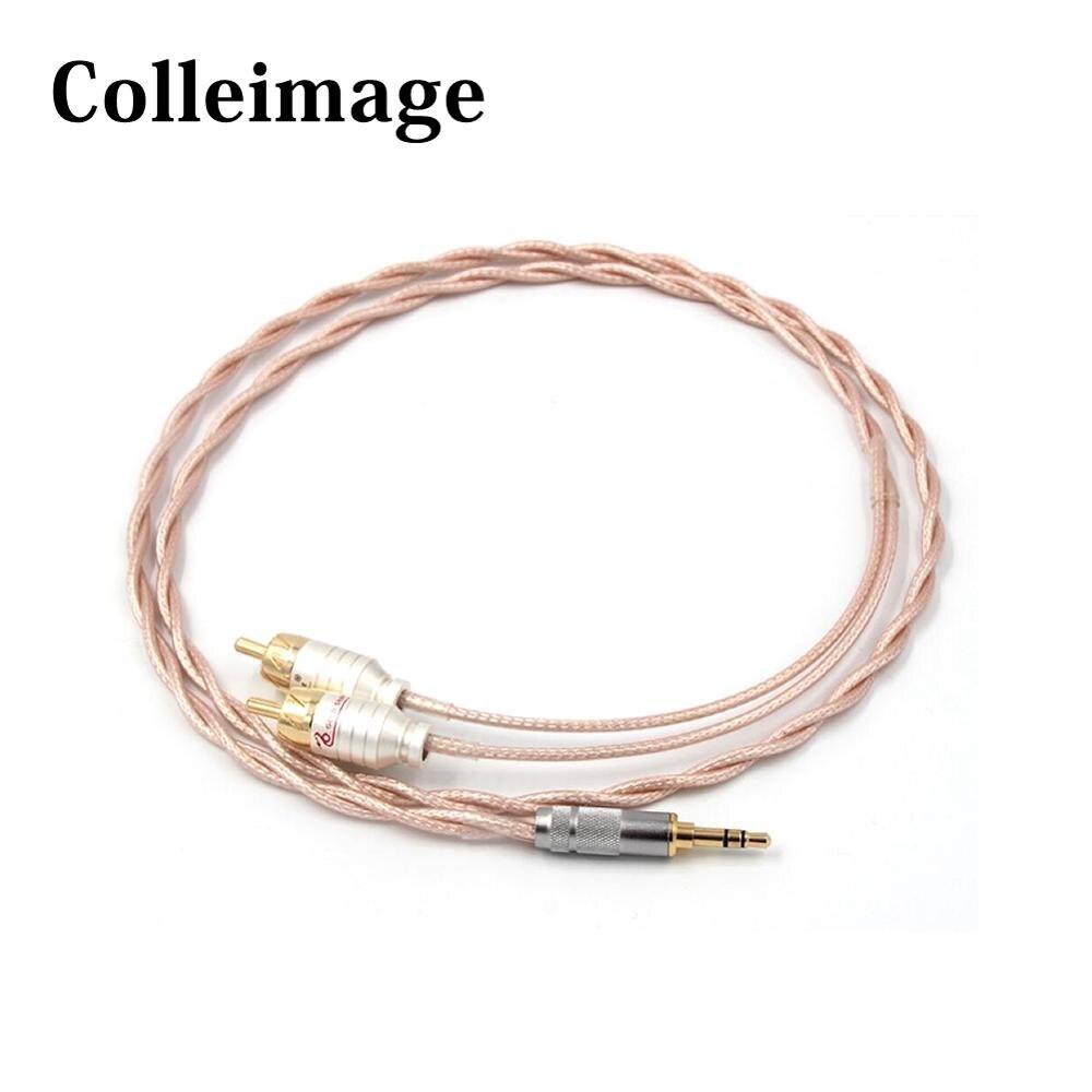 Colleimage Hifi 3,5 мм разъем Aux на 2 RCA мужской аудио кабель для Cayin N5 Iriver AK240 AK380 AK120II Amp onyo DP-X1