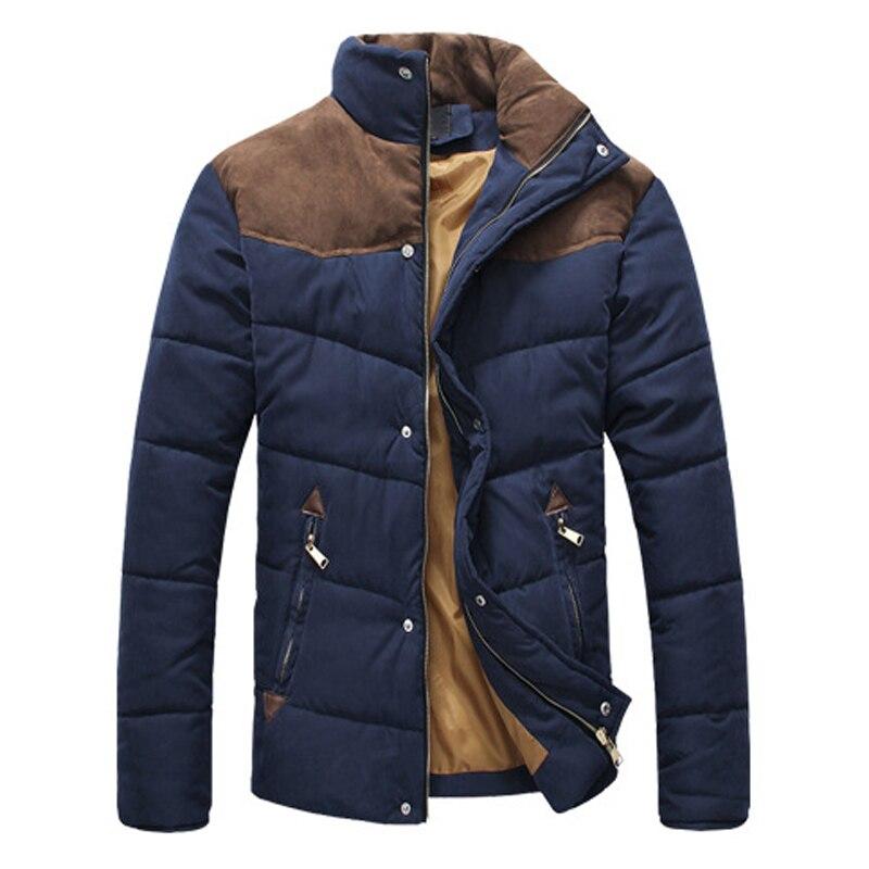 Одежда, зимняя куртка, Мужская теплая Повседневная куртка, хлопковая куртка с воротником-стойкой и воротником-стойкой, зимняя куртка, Мужск...