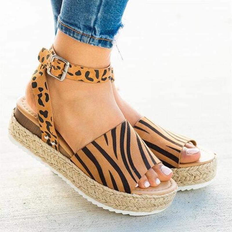 Sandalias De tacón alto para mujer, zapatos de verano, calzado de plataforma, talla grande
