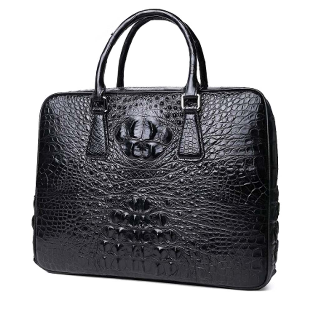 xingmengda new men handbag  male  crocodile leather business men briefcase  male large capacity  Combination lock  male handbag