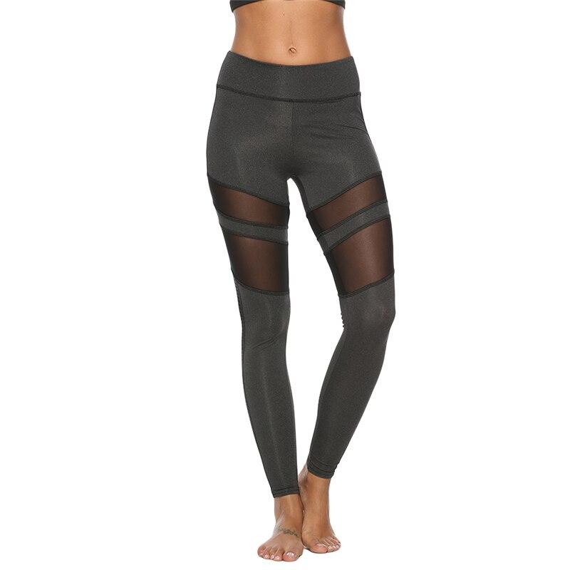 Pantalones Mujer Leggings para Fitness malla Patchwork Push Up Legging gimnasio botín deporte ropa deportiva correr Legency