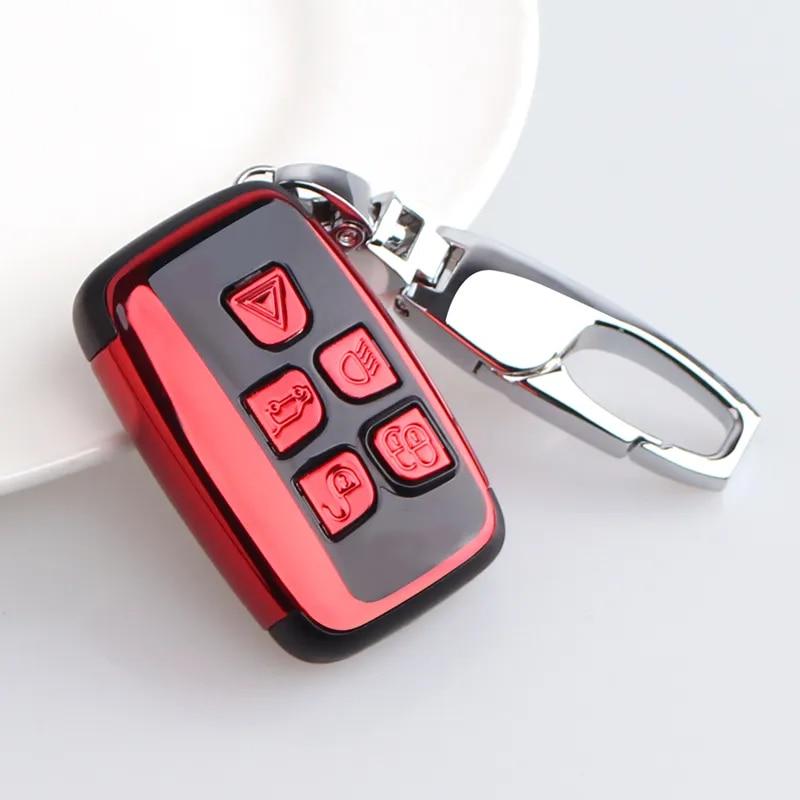 Étui pour clé de voiture pour jaguar xf xj, pour land rover freelander 2, housse de protection, support automatique, coque, accessoires, porte-clés, style de voiture