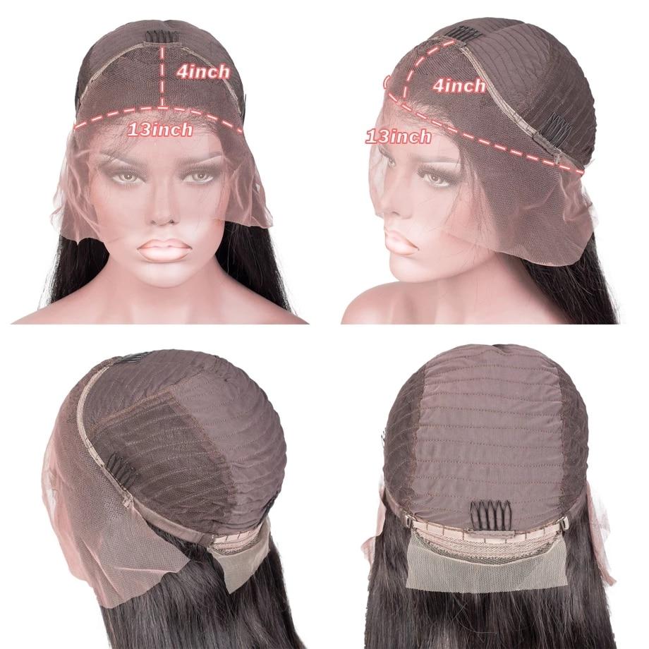 Hd Full Lace Frontal Bob Wigs 30 40 Inch Brazilian Hair Pre Plucked For Black Women