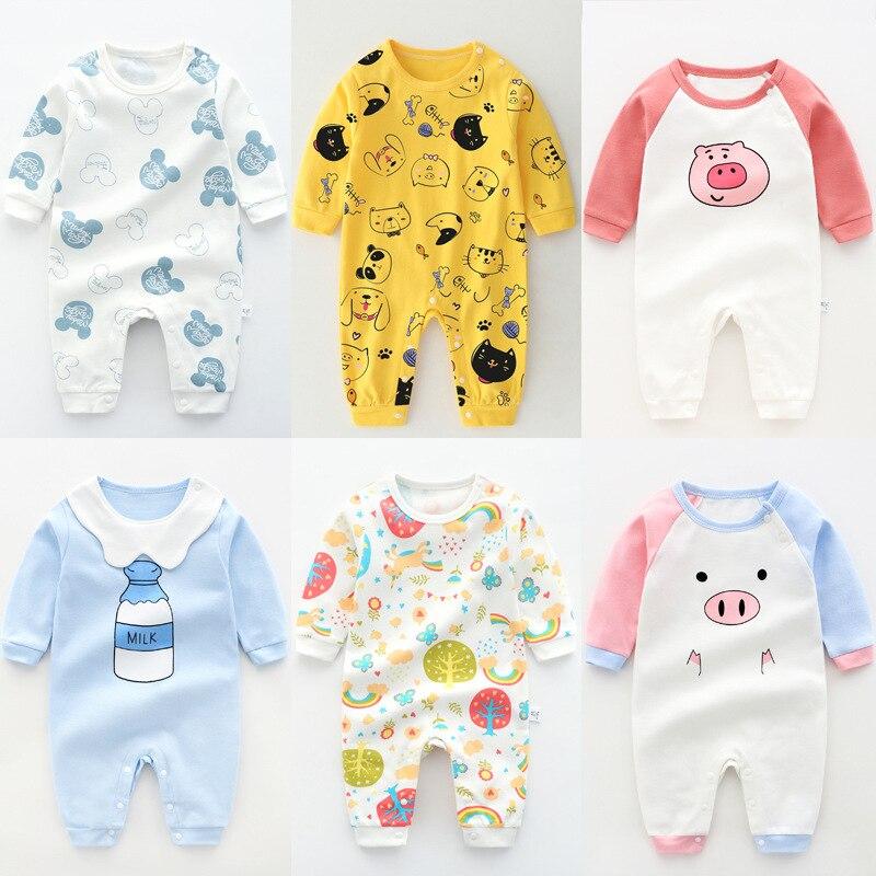 Bebé mono recién nacido, ropa de bebé niña una pieza de bebé niño traje de dibujos animados pelele ropa infantil