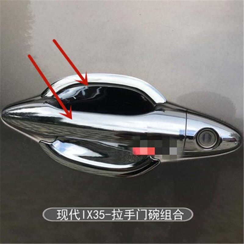 Poignée de voiture Hyundai ix35 2009-2015   ABS chromé, couvercle de protection de la garniture de la porte, style de voiture