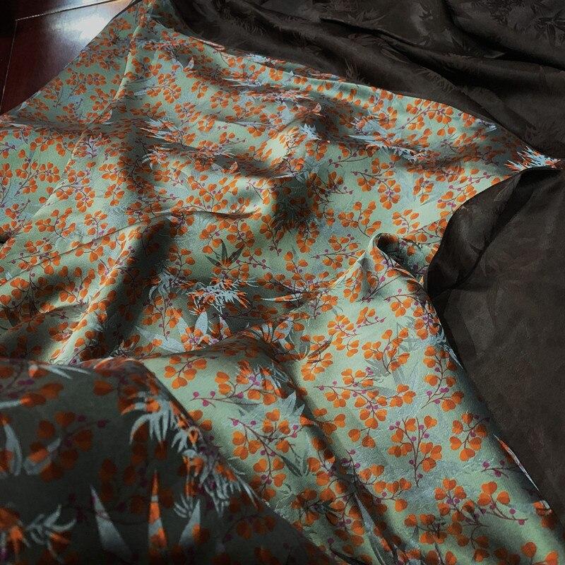 Шелковая ткань, различные поделки, Тяжелая шелковая пряжа, ткань для одежды, цена 50 см, ткань для платья
