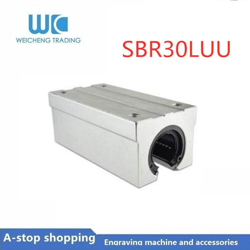 10 piezas, SBR30 SBR30LUU, cojinete lineal, bloque de almohada de 30mm, rodamiento lineal abierto bloque deslizante, piezas de Router CNC