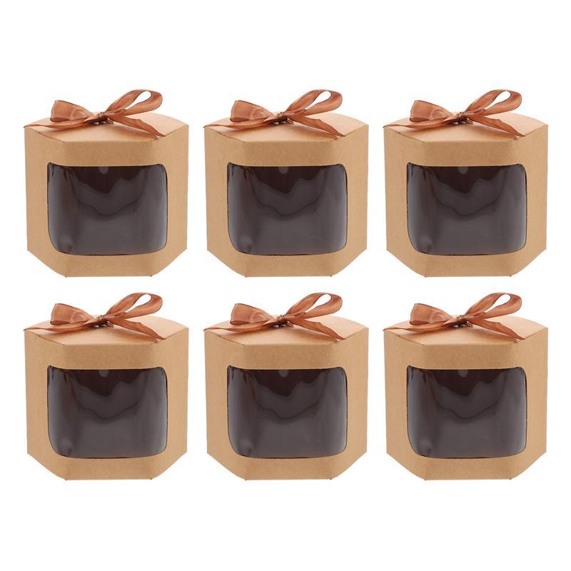 6 шт. бумажные конфеты печенье Упаковка Бумажные Коробки Подарки упаковочные коробки картонный чехол