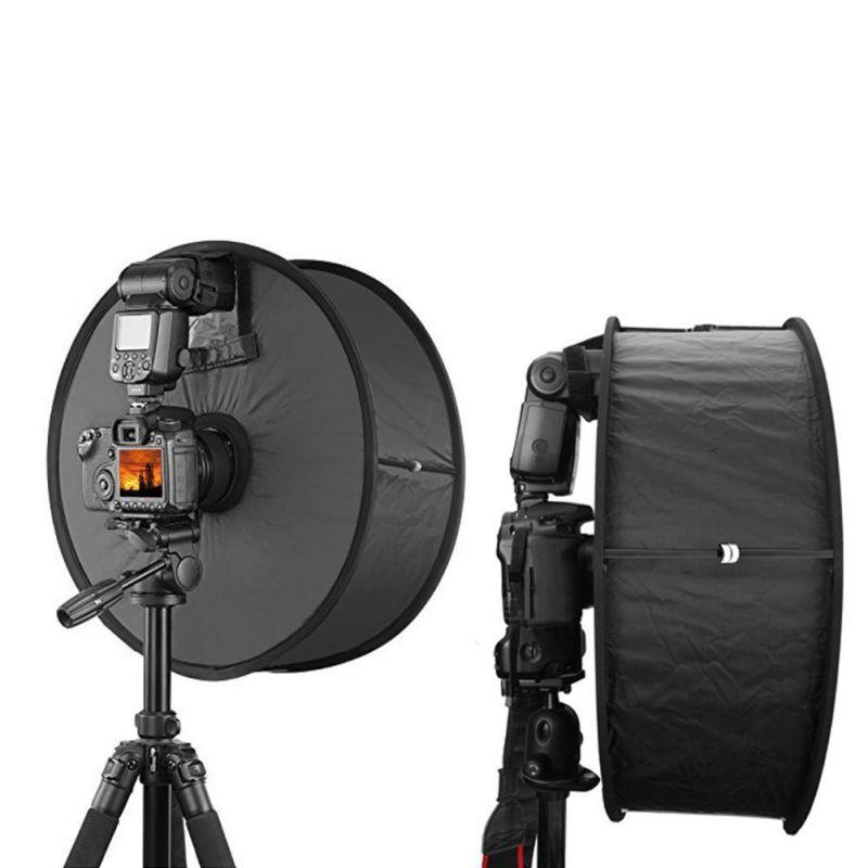 Difusor de Flash redondo Softbox vídeo de cámara fotográfica profesional caja de luz suave de alta calidad