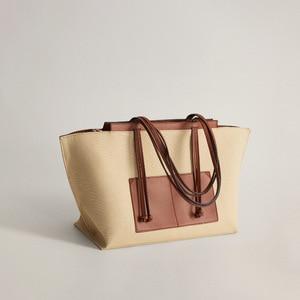 Contrast color Large Tote bag 2021 Fshion New High-quality Canvas Women's Designer Handbag High capacity Shoulder Messenger Bag