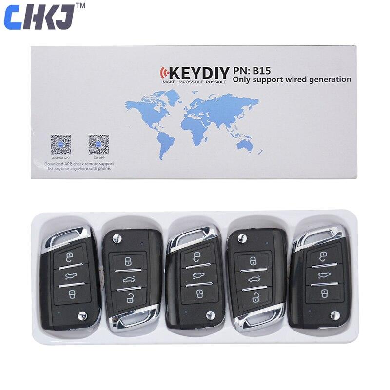 CHKJ B15 3 кнопки MQB Стиль Универсальный KD пульт дистанционного управления для KD200 KD900 KD900 + URG200 KD-X2 мини KD Автомобильный ключ генератор