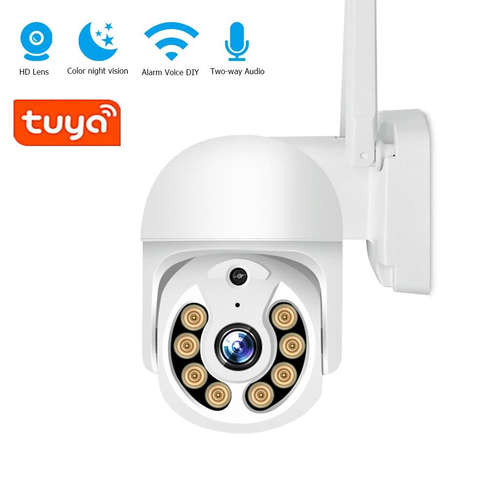 HITGX 3MP Tuya PTZ IP Camera 2.4G Surveillance Cameras With WiFi H.265 P2P Audio 2MP Security Protec