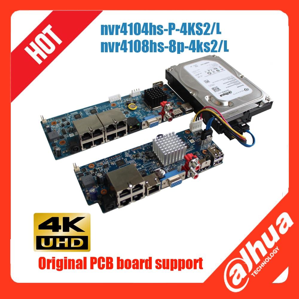 الأصلي داهوا متعدد اللغات لوحة دارات مطبوعة ل NVR4104hs-P-4KS2/L NVR4108hs-8P-4KS2/L 4K H.265 AI الوجه 8 قناة POE NVR مسجل